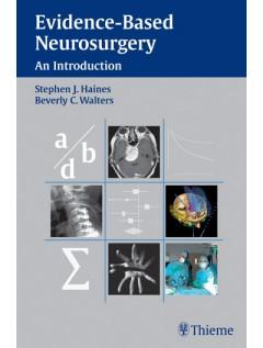 Evidence-Based Neurosurgery