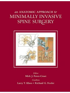 An Anatomic Approach to Minimally Invasive Spine Surgery